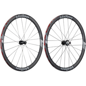 FSA Vision Trimax Carbon 40 Laufradsatz Clincher Shimano 6B Disc schwarz/grau